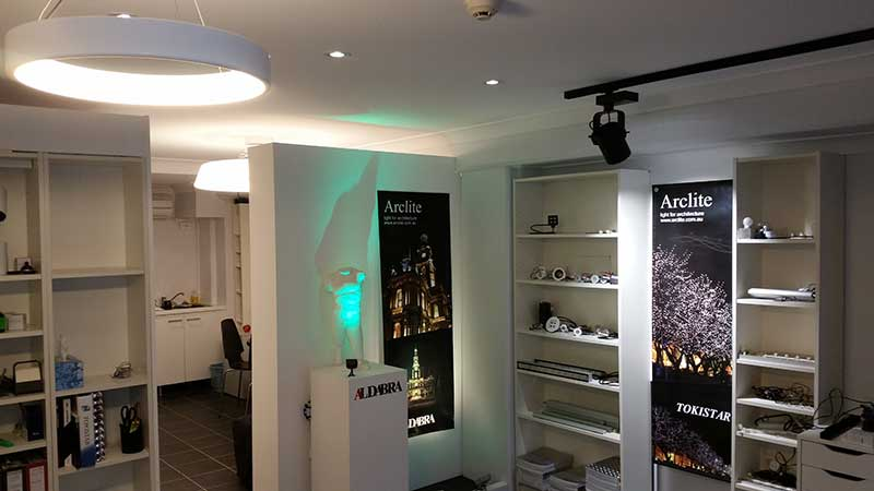 Arclite architectural lighting showroom