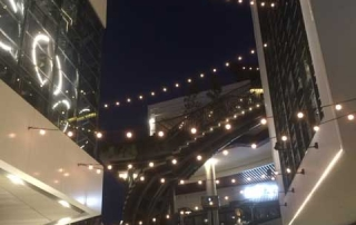Tokistar Exhibitor Festoon Lighting System at Westfield Shopping Centres in Australia