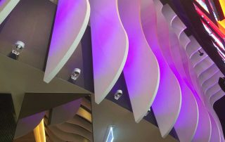 GVA Lira architectural lighting Hoyts Chadstone close up